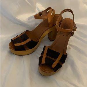 Madewell Black and Brown Clog Heels